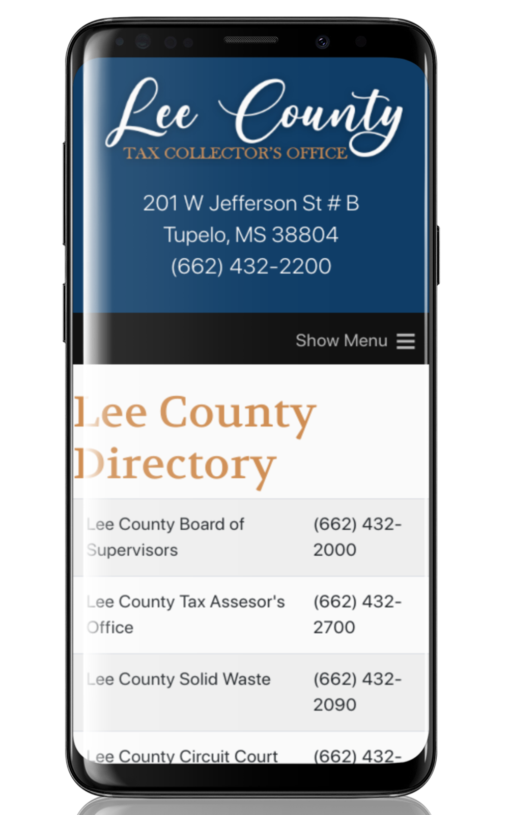 Mobile View Lee County Tax Collector